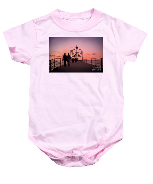 A Stroll Along Sunset Pier Baby Onesie