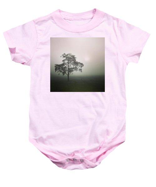 A Walk Through The Clouds #fog #nuneaton Baby Onesie