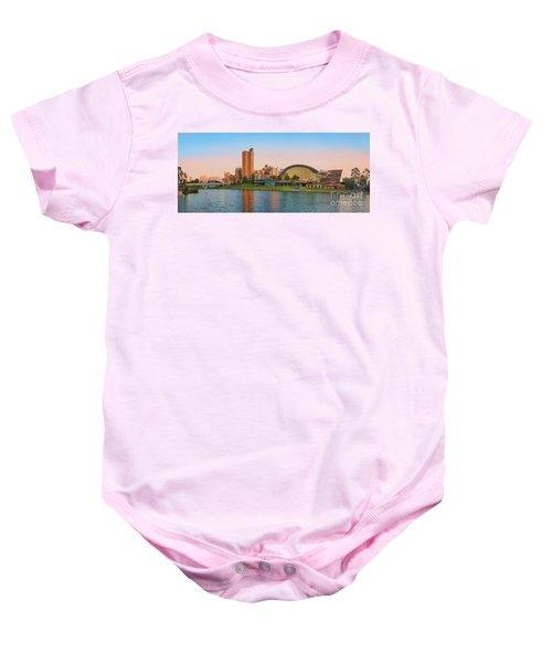 Adelaide Riverbank Panorama Baby Onesie