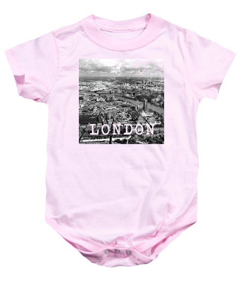 Aerial View Of London Baby Onesie by Mark Rogan