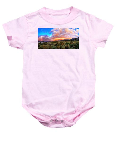 After The Storm Panorama Baby Onesie