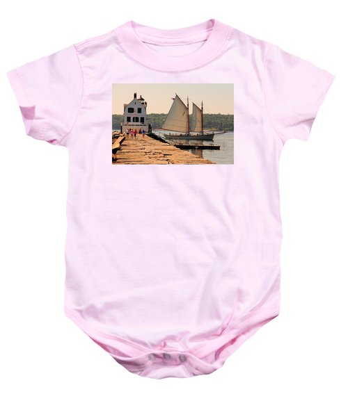American Eagle At The Lighthouse Baby Onesie