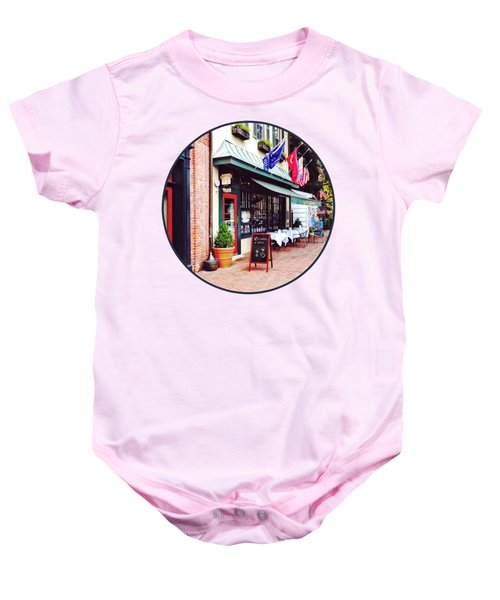 Annapolis Md - Restaurant On State Circle Baby Onesie