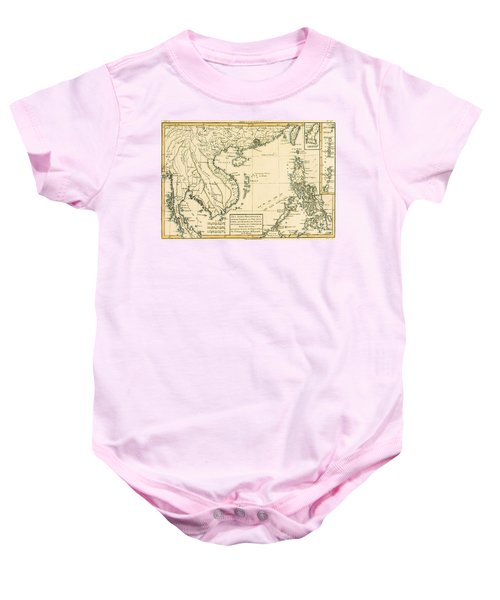 Antique Map Of South East Asia Baby Onesie