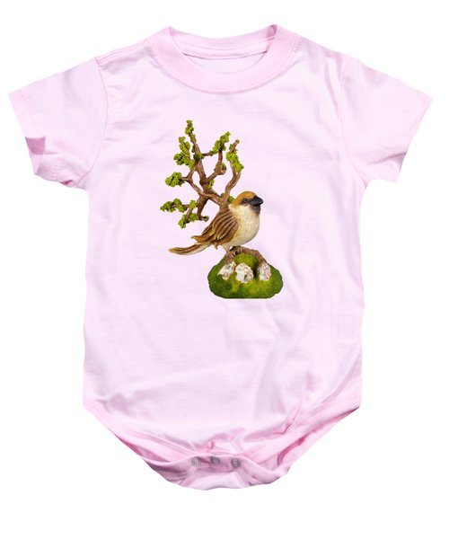 Arborescent Sparrow Baby Onesie by Przemyslaw Stanuch