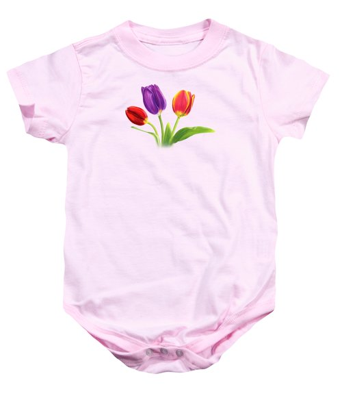 Tulip Trio Baby Onesie by Sarah Batalka