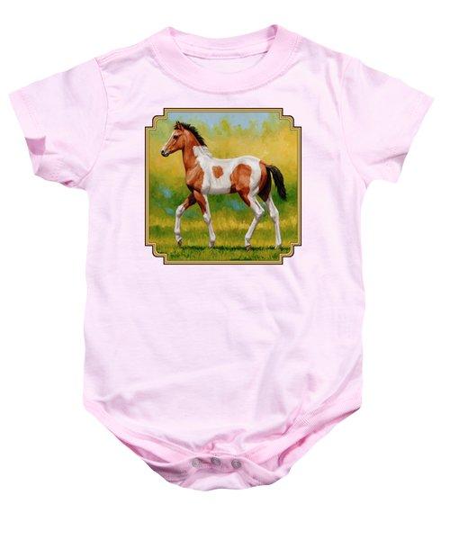 Bay Pinto Foal Baby Onesie