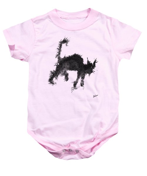 Baby Onesie featuring the painting Electricat by Marc Philippe Joly
