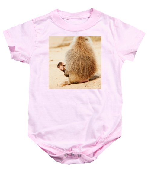 Baboon With A Baby  Baby Onesie
