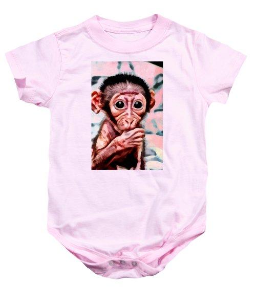 Baby Monkey Realistic Baby Onesie