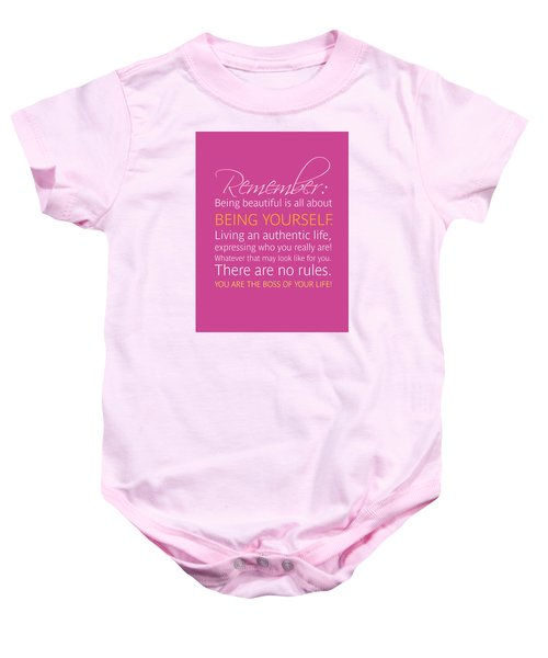 Be Yourself Baby Onesie by Luzia Light