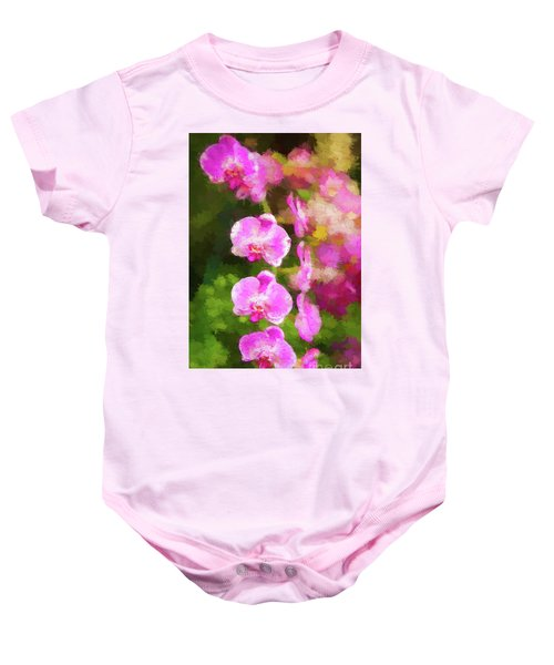 Beautiful Orchids Baby Onesie