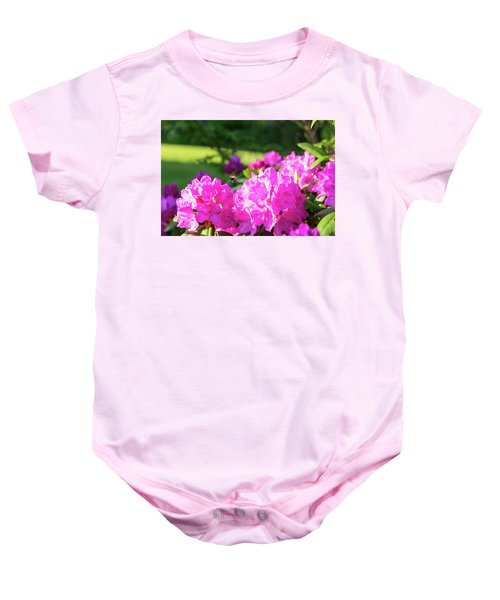 Bee Flying Over Catawba Rhododendron Baby Onesie