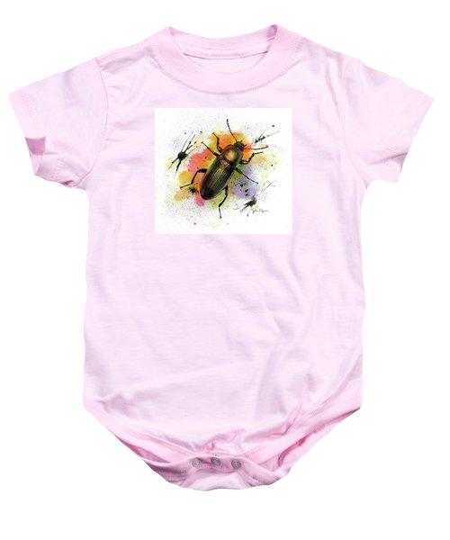 Beetle Illustration Baby Onesie