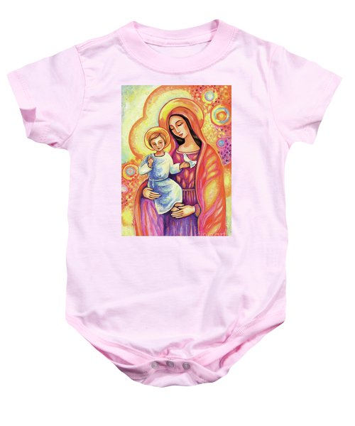 Blessing Of The Light Baby Onesie by Eva Campbell