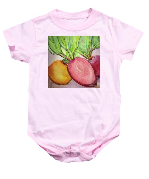 Bold Beets Baby Onesie