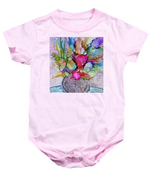 Bouquet In Pastel Baby Onesie