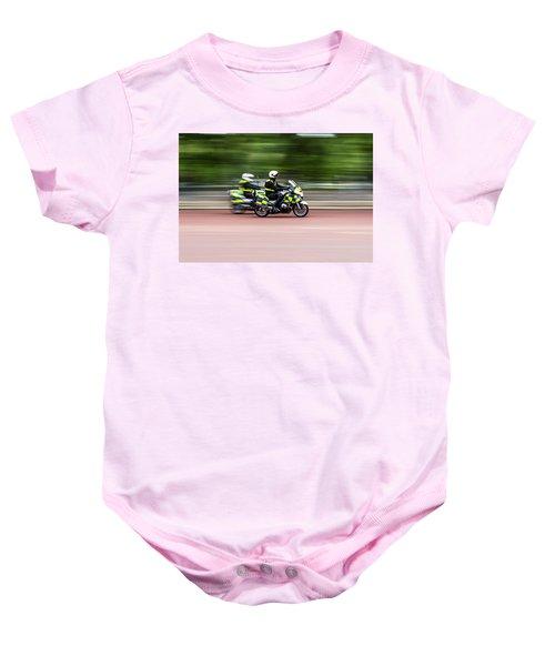 British Police Motorcycle Baby Onesie