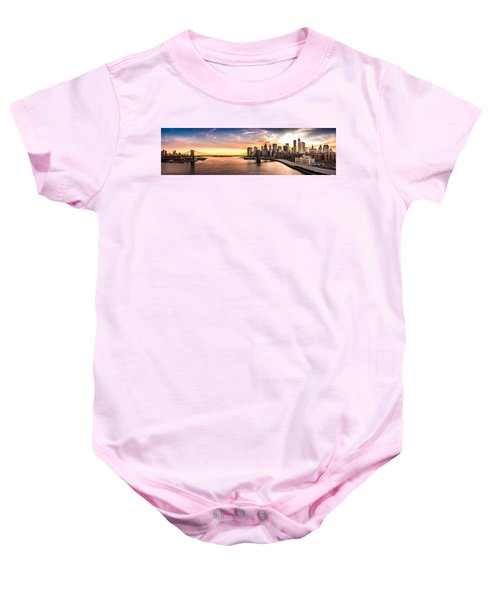 Brooklyn Bridge Panorama Baby Onesie