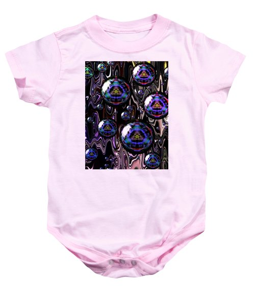 Bubble Abstract 1a Baby Onesie