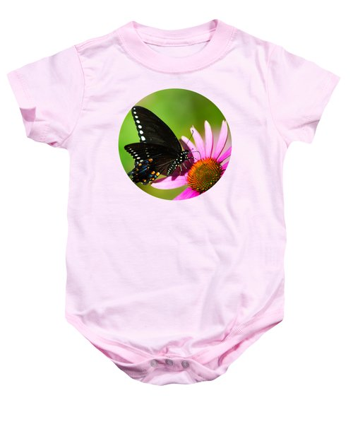Butterfly In The Sun Baby Onesie by Christina Rollo