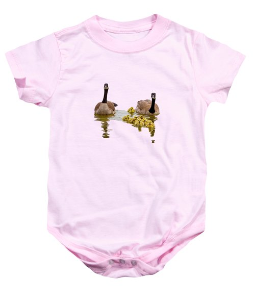 Canadian Geese And Goslings Baby Onesie