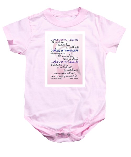 Cancer Is Powerless Baby Onesie