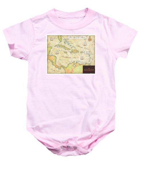 Caribbean Map II Baby Onesie