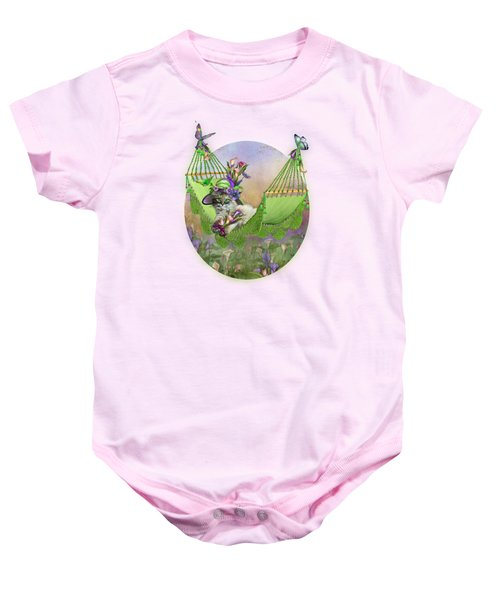 Cat In Calla Lily Hat Baby Onesie