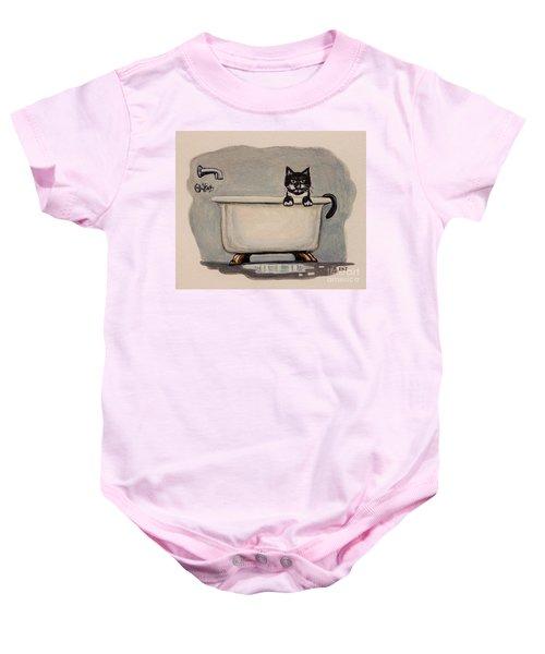 Cat In The Bathtub Baby Onesie