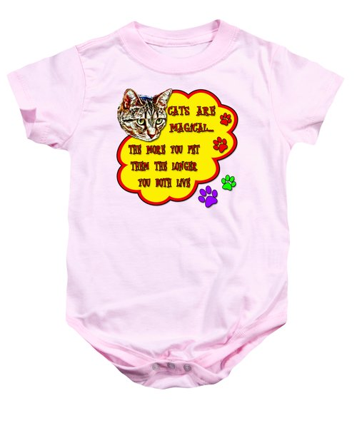Cats Are Magical Baby Onesie