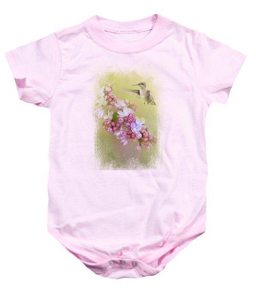 Chasing Lilacs Baby Onesie by Jai Johnson