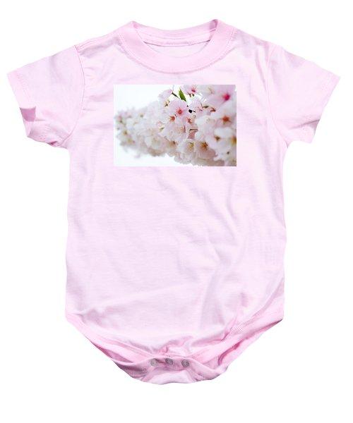 Cherry Blossom Focus Baby Onesie