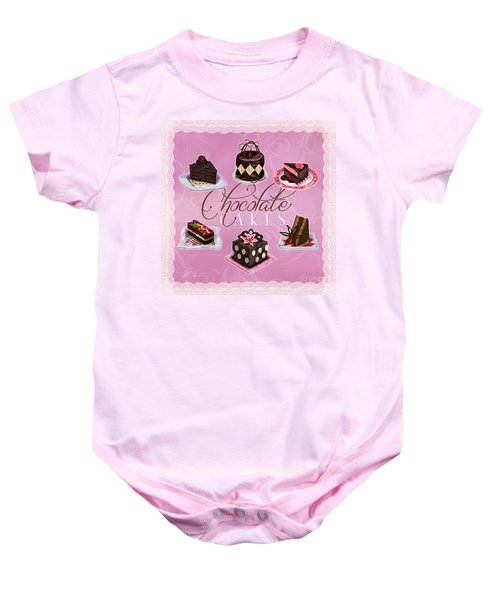 Chocolate Cakes Baby Onesie