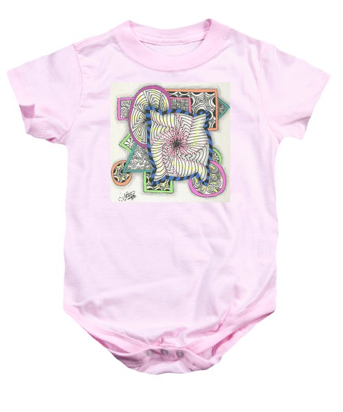 Colored Frames Baby Onesie