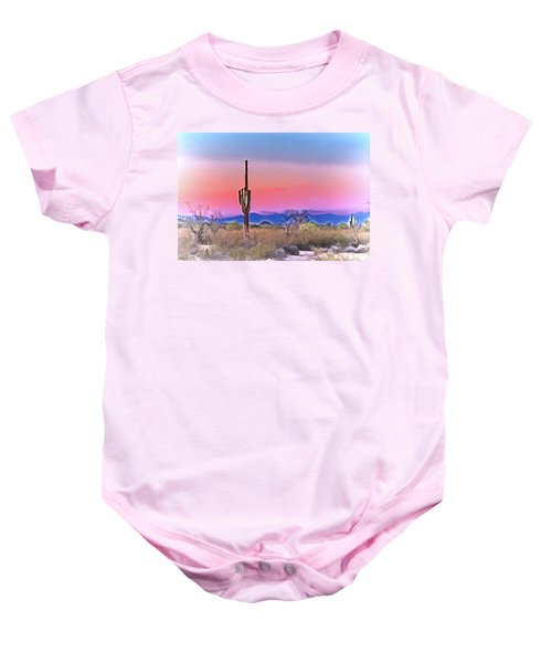 Colorful Desert Baby Onesie