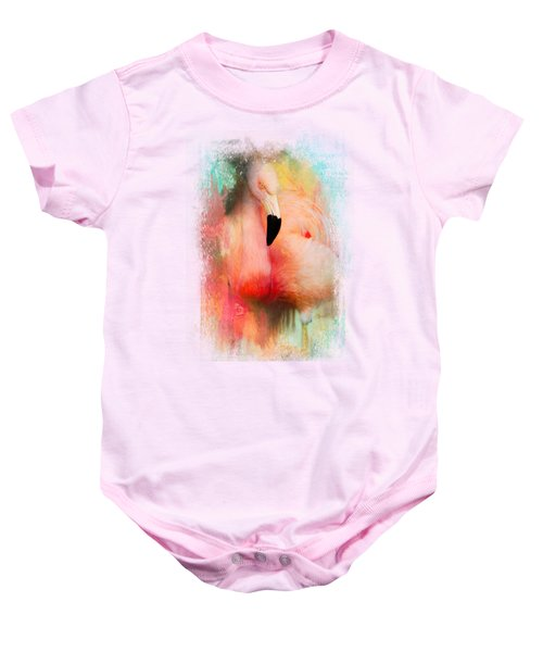 Colorful Expressions Flamingo Baby Onesie by Jai Johnson