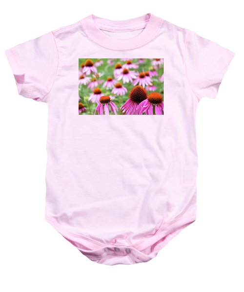 Baby Onesie featuring the photograph Coneflowers by David Chandler