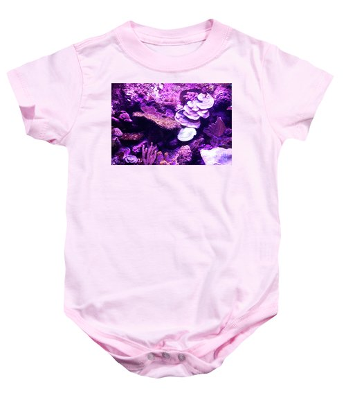 Baby Onesie featuring the digital art Coral Art 5 by Francesca Mackenney