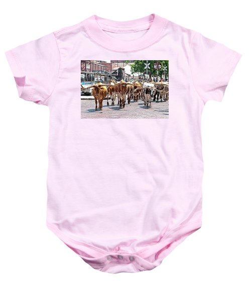 Cowtown Stockyards Baby Onesie