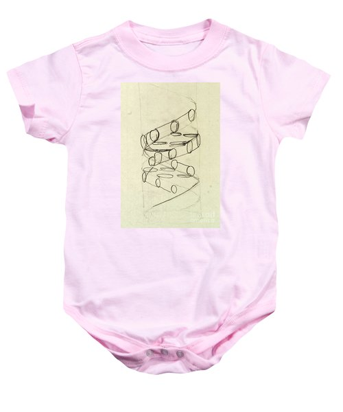 Cricks Original Dna Sketch Baby Onesie