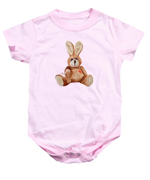 Cuddly Care Rabbit Baby Onesie by Angeles M Pomata