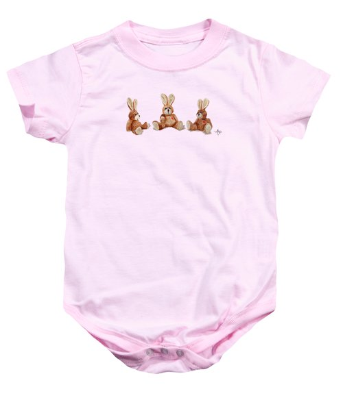 Cuddly Care Rabbit II Baby Onesie by Angeles M Pomata
