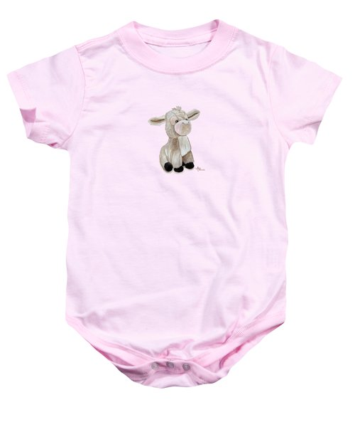Cuddly Donkey Watercolor Baby Onesie