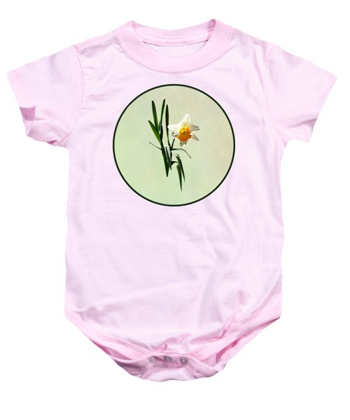 Daffodil Taking A Bow Baby Onesie