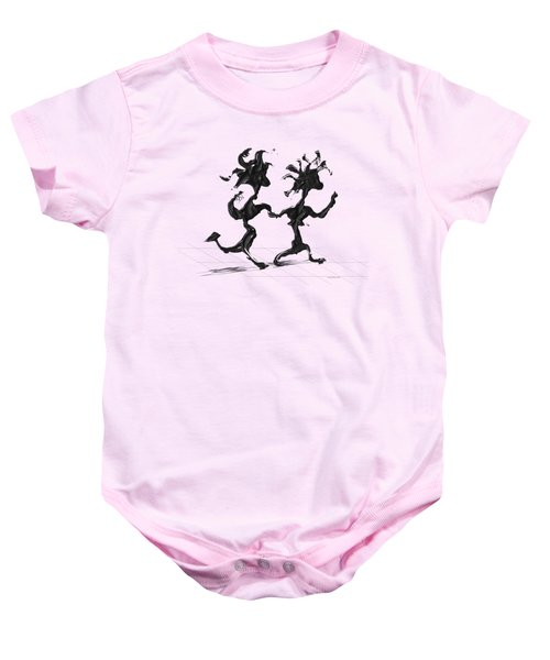 Dancing Couple 7 Baby Onesie