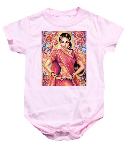 Baby Onesie featuring the painting Devika Dance by Eva Campbell