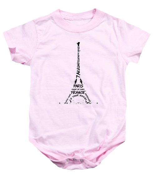 Digital-art Eiffel Tower Baby Onesie by Melanie Viola