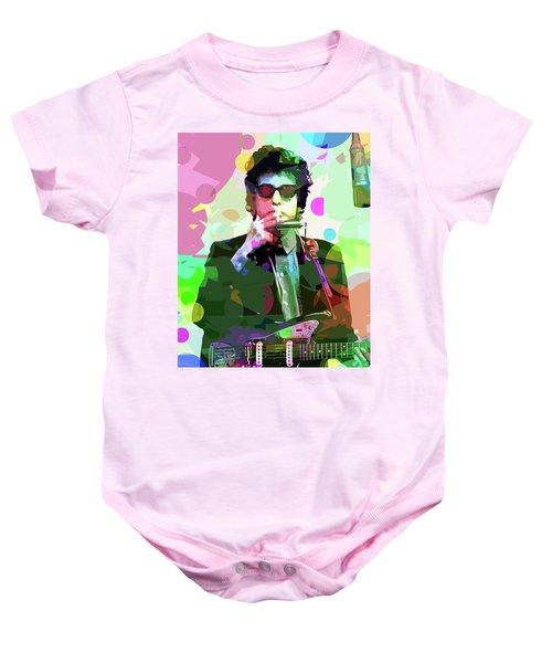 Dylan In Studio Baby Onesie by David Lloyd Glover