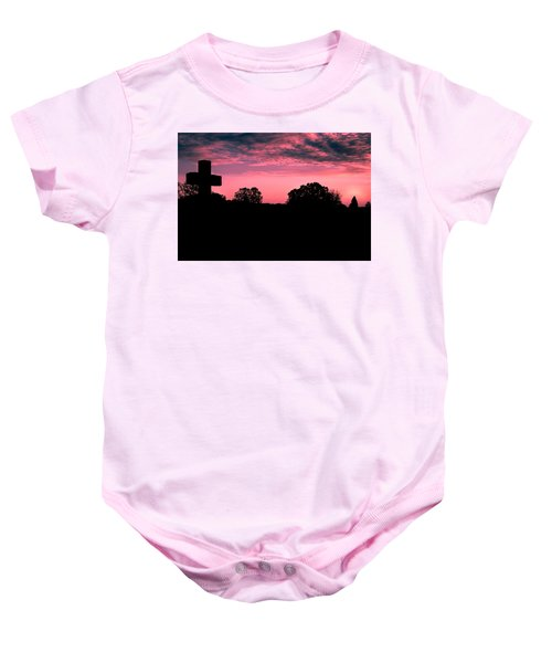 Early On The Hill Baby Onesie